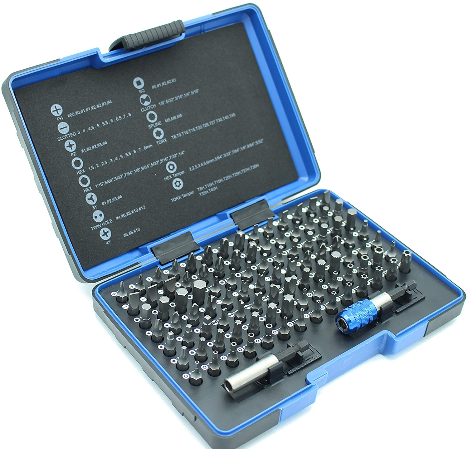 TEMO 100 Piece Oakland Mall Impact Max 75% OFF Ready Security Screwdriver Kit Set Bits wi