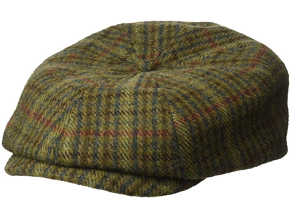 Men's Vintage Style Hats Brixton Brood Snap Cap Moss Navy Caps $39.00 AT vintagedancer.com