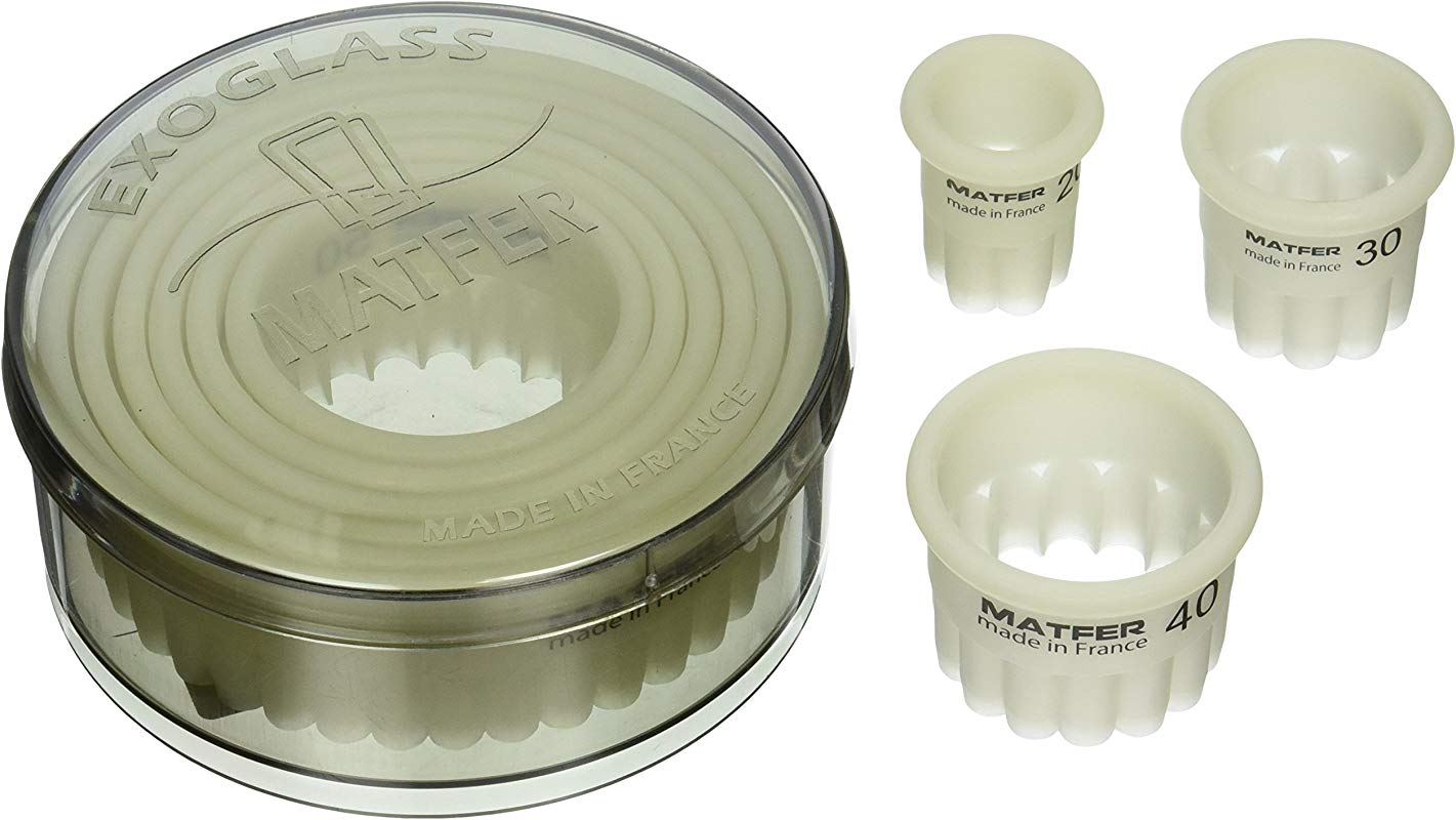 Matfer Bourgeat Exoglass Round Fluted Cutters