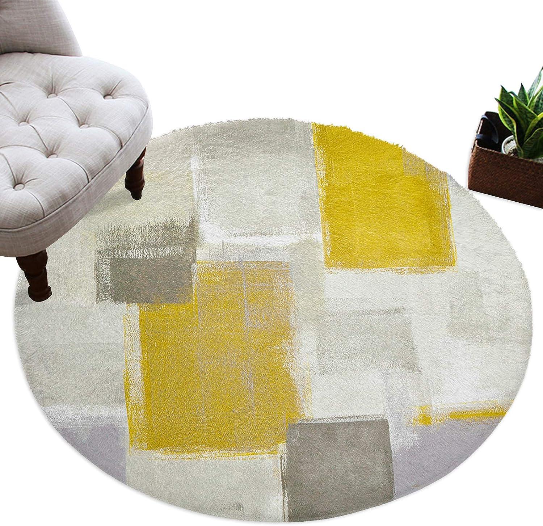 Meet 1998 Popular brand Round Area Rug Soft Floormat Rugs 2021 new Circle Yellow Throw