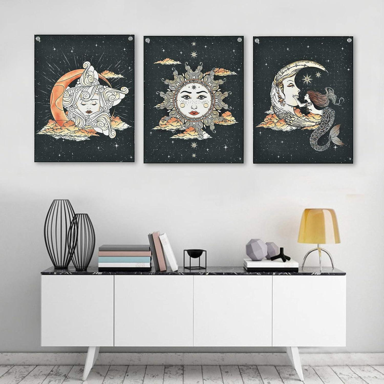 Livole Pack of 3 Tarot Star Tapestry Max 42% OFF Sun Moon Arlington Mall