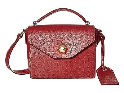 Frances Valentine Mini Midge Flat Crossbody (Wine) Handbags
