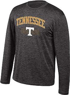 NCAA Men's Tennessee Volunteers Poly Space Dye Invader Long Sleeve Tee Black Large