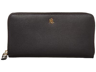 LAUREN Ralph Lauren Zip Continental Wallet (Black) Wallet Handbags