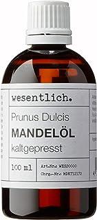 Mandelöl kaltgepresst 100ml - 100% reines Mandelöl Prunus Dulcis von wesentlich. - feines Öl zur Pflege von Haut und Haar - perfektes Massageöl