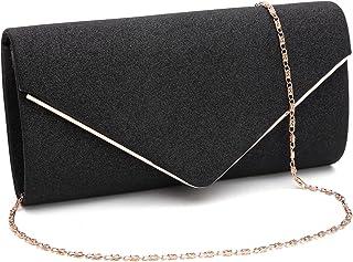 5c33d334ca31 GESU Womens Shining Envelope Clutch Purses Evening Bag Handbags For Wedding  and Party