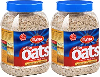 Manna Hi Fiber White Oats Jar (500g) - Set of 2