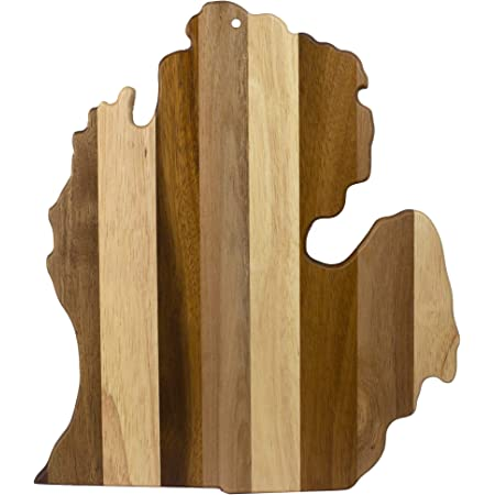 Rectangle Shape Michigan State Laser Engraved Bamboo Wood Serving Cutting Board