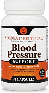Premium Blood Pressure Support Formula - High Blood Pressure Supplement with Hawthorn Extract, Olive Leaf, Garlic Extract...