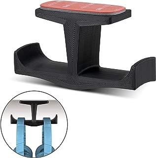 Brainwavz BigT Under Desk Headphone Stand Mount Holder, for Gaming, Music, Mobile Headsets Hanger, No Screws (Black)