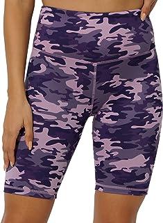 oyioyiyo Women's High Waist Workout Yoga Running Compression Shorts Side Pockets