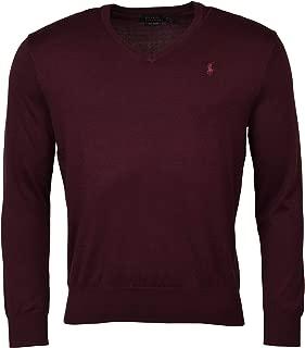 Mens Heathered Long Sleeves V-Neck Sweater