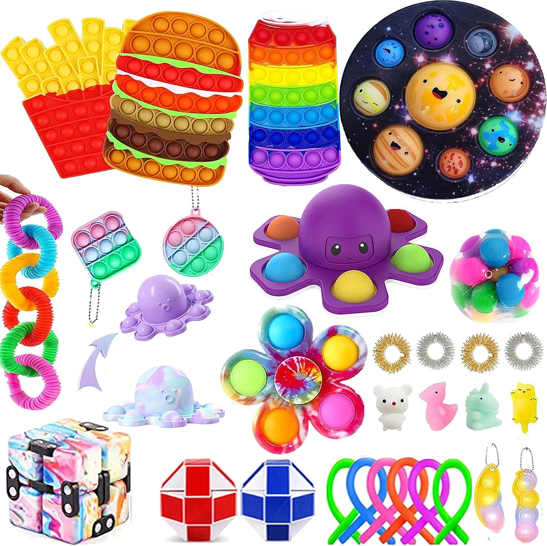 Dewadbow 35Pcs Pop Popping Choice 70% OFF Outlet Fidget Toys its Set pop Pu Toy
