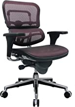 Eurotech Seating Ergohuman ME8ERGLO-RED(N) Mid Back Mesh Swivel Chair, Plum Red