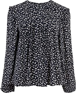 Marks & Spencer Women's Ditsy Floral Pintuck Long Sleeve Blouse