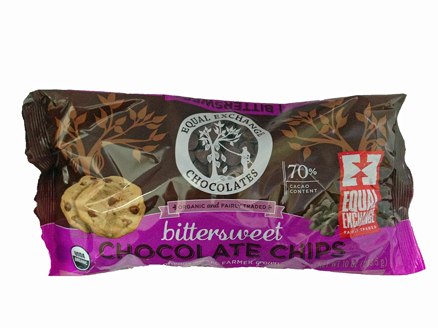 Equal Exchange Detroit Mall Bittersweet Chocolate OFFicial mail order Chips Ounc 10 Oz. 2-