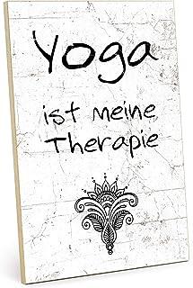 TypeStoff Placa de madera con frase en inglés – Yoga – Estilo vintage con cita para regalo y decoración temática de terapi...