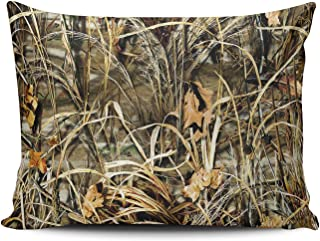 KEIBIKE Personalized Unique Realtree Camo Camouflage Pattern Rectangle Decorative Pillowcases Retro Zippered Throw Pillow Covers Cases 16x24 Inches One Sided