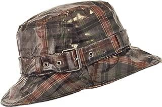 TOUTACOO, Waterproof Wax Style Checkered Bucket Rain Hat