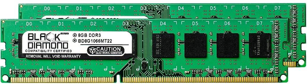 首謀者ジーンズ中傷16GB 2X8GB RAM Memory for ASRock Motherboards 890GX Pro3 DDR3 DIMM 240pin PC3-8500 1066MHz Black Diamond Memory Module Upgrade