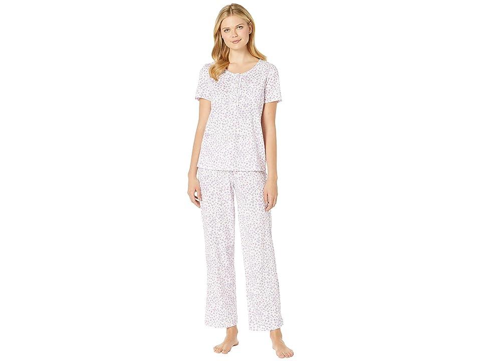 Carole Hochman Short Sleeve Pajama Set (Lilac/Pink Ditsy) Women