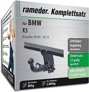 Rameder Komplettsatz, Anhängerkupplung abnehmbar + 13pol Elektrik für BMW X3 (113233 05085 1)