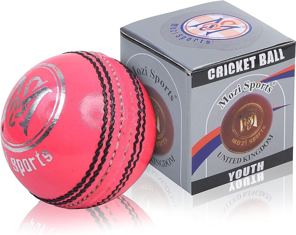 Mozi Sports® Youth Junior Cricket Ball Leather School Club Balls Weight 135gm