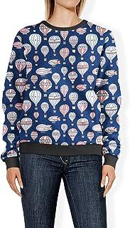 Rainbow Rules Hot Air Balloons & Zeppelin Navy - 2XL - Womens Sweatshirt