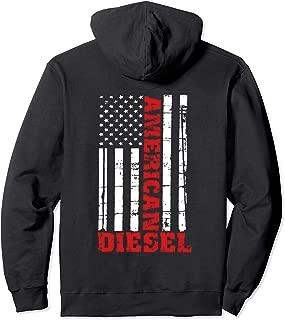 American Diesel Flag Hoodie Sweatshirt Truck Turbo Brothers