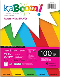 Kaboom Volt Neon Assorted Colored Paper, 8.5