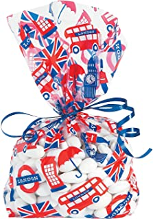 Fun Express - Royal Baby Shower Cello Bags for Baby - Party Supplies - Bags - Cellophane Bags - Baby - 12 Pieces