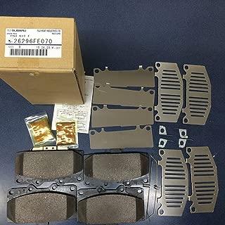 2006 2007 Impreza WRX Subaru Front brake pad set shims & clips 26296FE070 OEM