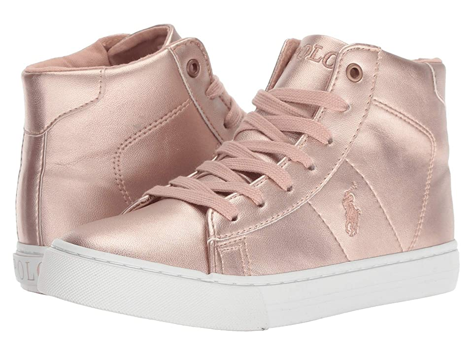 Polo Ralph Lauren Kids Easten Mid (Big Kid) (Pink Metallic) Girl