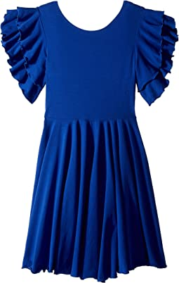 Amelia Stretch Fit & Flare Dress (Big Kids)