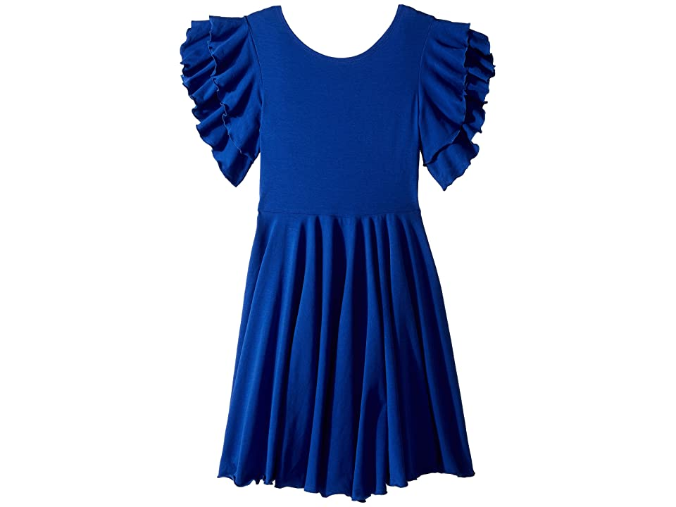 fiveloaves twofish Amelia Stretch Fit Flare Dress (Big Kids) (Blue) Girl