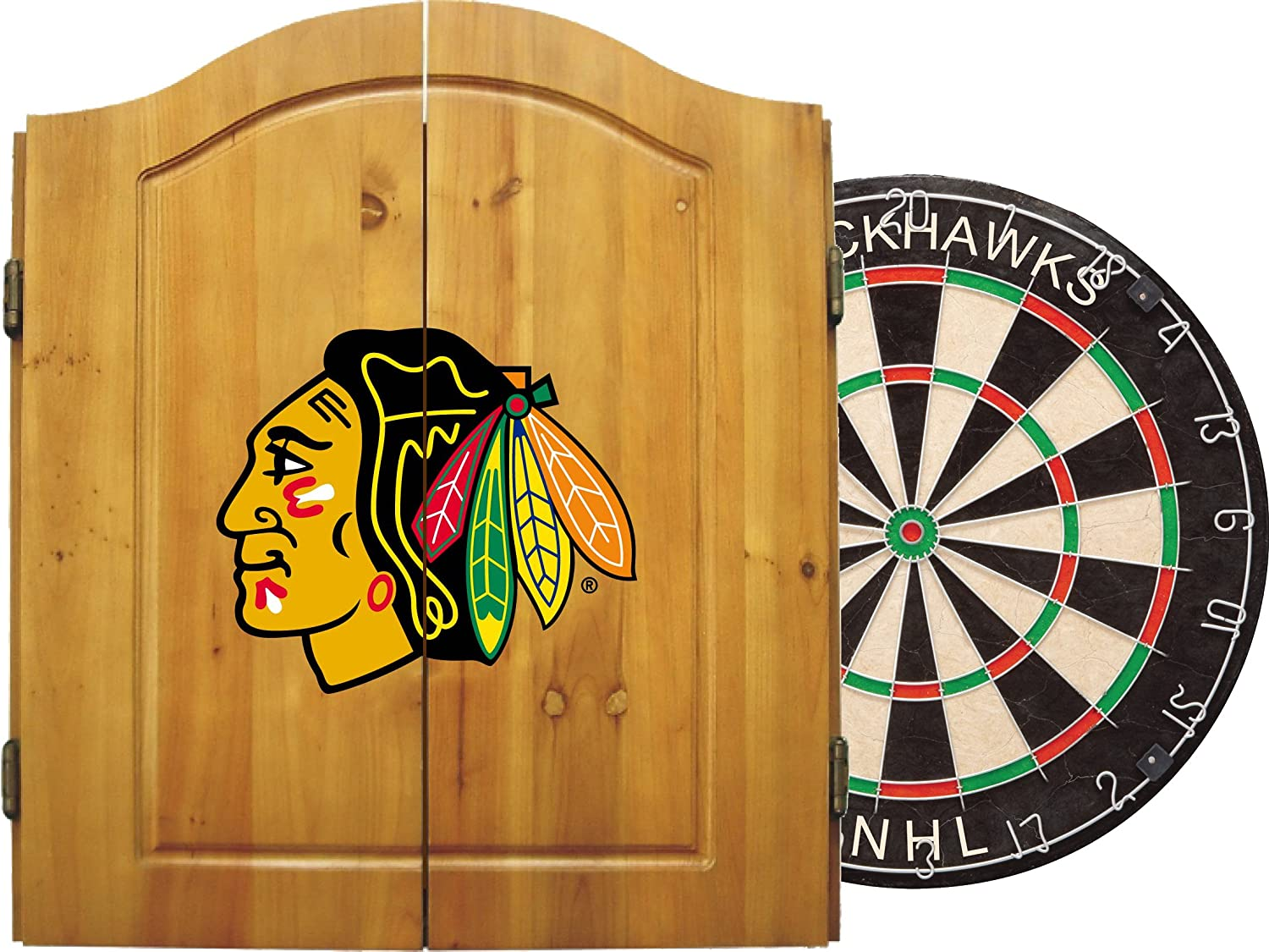 NHL Unisex NHL Team Dartboard Cabinet Set