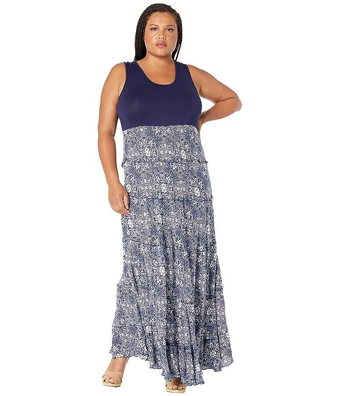 Karen Kane Plus Plus Size Topanga Tiered Dress | Zappos.com