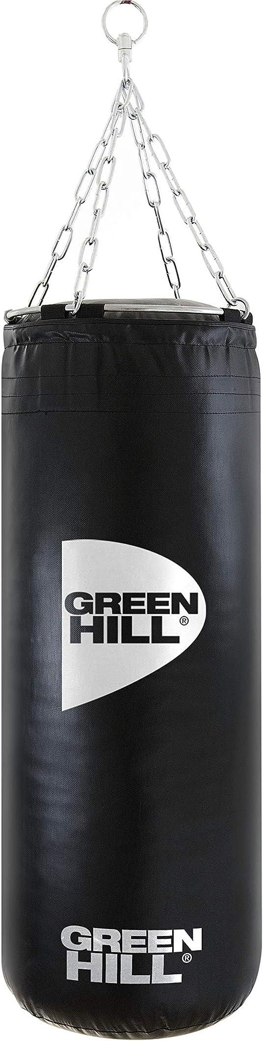 Sacco da boxe vinile pugilato pieno 90x35 riempito 25kg green hill B08KGMHYW2