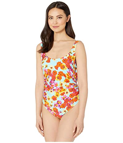 Kenneth Cole In The Garden Shirred Side One-Piece (Multicolor) Women