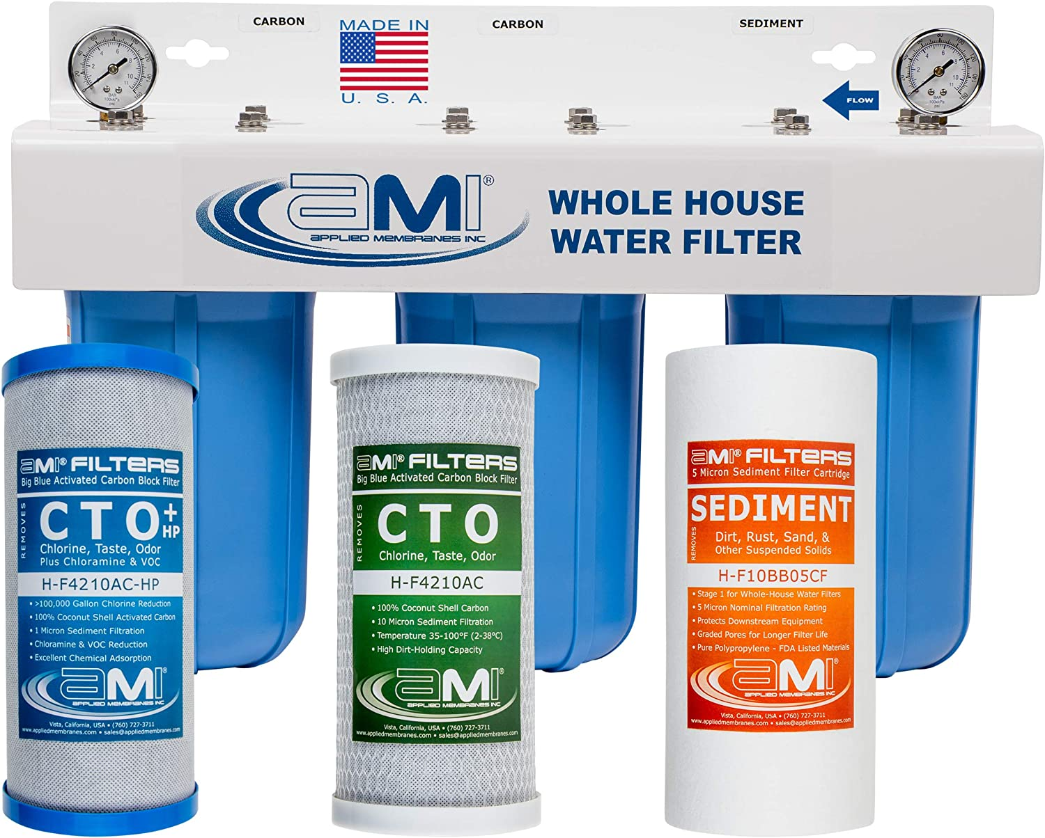 APPLIED Ranking TOP19 MEMBRANES INC. Sale special price 3-Stage Whole-House Filter Water System w