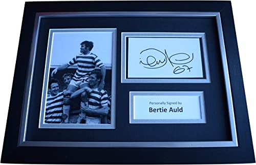 Sportagraphs Bercravate Auld SIGNED A4 FRAMED Autograph Photo Display Celtic Football COA PERFECT GIFT