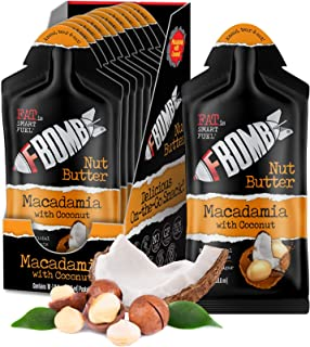 FBOMB Nut Butter 10 Pack: All-Natural Energy, Keto Fat Bombs   High Fat, Low Carb Snack, For On-The-Go Energy   Paleo, Veg...
