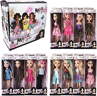 Liberty Imports Deluxe Case of 12 Fashion Beauty Princess Dolls - Different Dresses and Outfits in Individual Display Boxes - Girls Toys Bulk Party Favors Supplies (10-Inches)