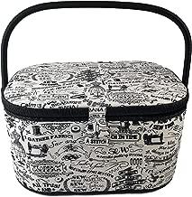 "Dritz St Jane Extra Large Oval Sewing Basket Box Dritz Sewing Supplies Organization Storage Extra Large 15"" x 10"" x 7.5 St Jane"