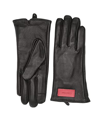 Calvin Klein Basic Leather Touch Gloves (Black) Over-Mits Gloves