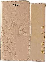 C-Super Mall-UK capa para iPhone 12 Mini, capa carteira em relevo borboleta com suporte e capa flip para iPhone 12 Mini 5,...