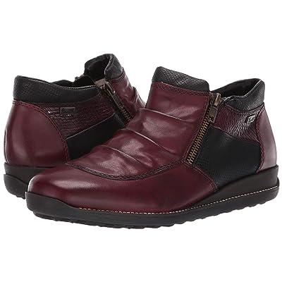25502c55 Rieker 44280 Daphne 80 (Medoc/Schwarz/Bordeaux) Women's Shoes