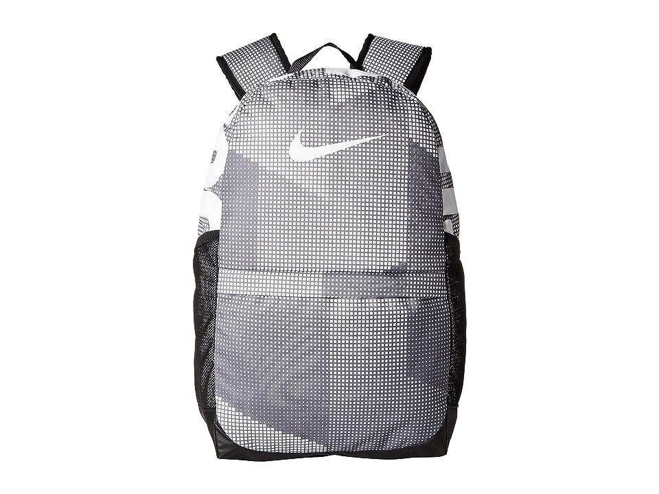 Nike Kids Brasilia Printed Backpack (Little Kids/Big Kids) (Gunsmoke/Black/White) Backpack Bags