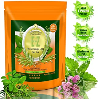 15 DAY BODY DETOX CLEANSE TEA - E-Z WEIGHT LOSS COLON CLEANSE AND DETOX TEA