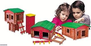 Roy Toy Deluxe Set(250 Piece Deluxe Log Building Set)